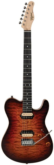 Guitarra Tagima Grace-7 | Cacau Santos Signature | Case | Dark Honey Burst
