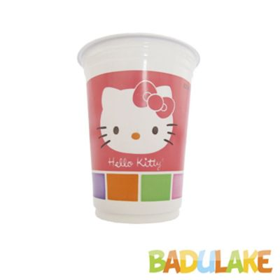 Copo Hello Kitty de 200ml - 8 unidades
