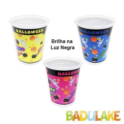 Copo Happy Halloween Sortido de 200ml - 8 unidades