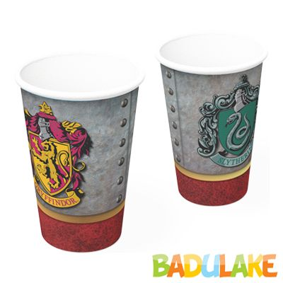 Copo Harry Potter de Papel 300ml - 8 unidades
