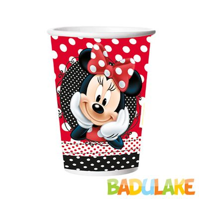Copo Papel Red Minnie 330 ml - 8 unidades