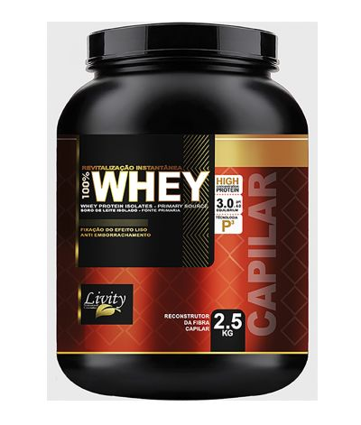 Whey Protein Capilar repositor de massa Livity 2,5kg – ph3,0/4,0