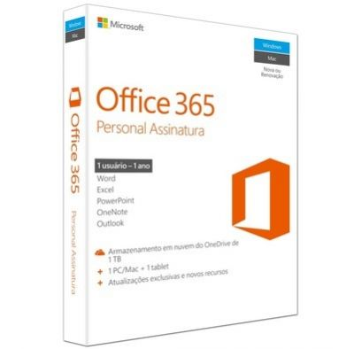 SOFT QQ2-00481 - Office 365 Personal 32/64 Brasil