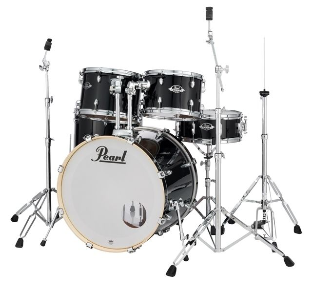 Bateria Pearl Export EXX725SP/C Jet Black ShellPack