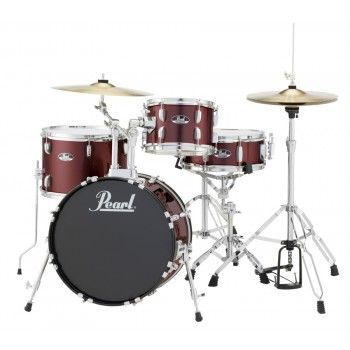 Bateria Pearl RoadShow RS584 + Ferragem e Banco Cor 91 Red Wine