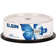 DVD-R ELGIN C/25UN 4.7GB pack COM 25