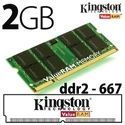 MEMORIA NOTEBOOK 2GB KINGSTON DDR2 800