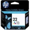 Cartucho HP C9352AB (22) - DJ1460 / D1560 / D2460 / F4140 / F4180 / F380 / F350 / D2360 - Original - Deskjet - Color - 5ml