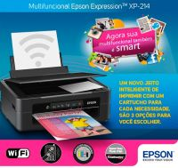 Impressora Multifuncional Jato Tinta Epson Xp214 Wireless