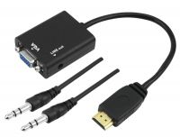Conversor Hdmi Para Vga Para Tv Pc Xbox360 Notebook