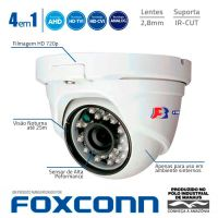 CAMERA DOME AHD+HDTVI+HDCVI+CVBS 720p IR 2,8mm 25m PDF1MC FOCUSBRAS