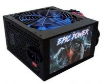 Fonte Atx Epic Power 550w Reais Cooler 120mm Azul C/cabo Box