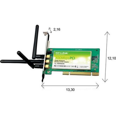 Adaptador Pci Wireless 300 Mbps Tl-wn951n - TP-link