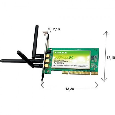 Adaptador Pci Wireless 300 Mbps Tl-wn951n - TP-link  - foto principal 1