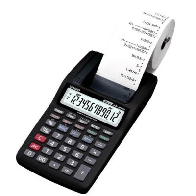 Calculadora c/ Bobina 12 Dígitos HR-8TM BK - Casio