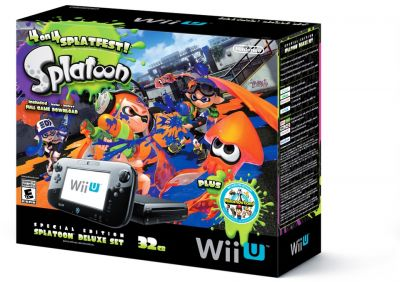 Wii U Splatoon Deluxe Bundle + Nintendo Land 32Gb - Nintendo
