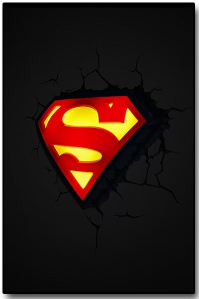 Luminária 3D Light FX Logo Superman - Beek  - foto 4