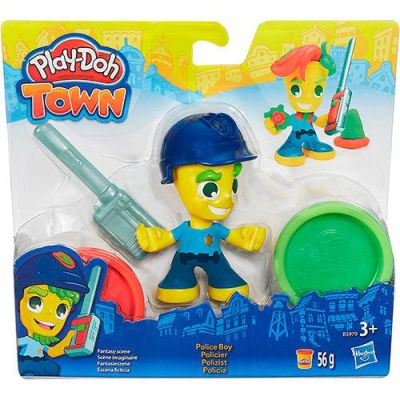 Pequeno Policial Kit - Play Doh Town - Hasbro