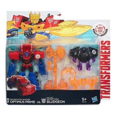 Optimus Prime vs Bludgeon - Transformers Robots in Disguise - Hasbro  - foto 1