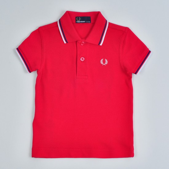 Camiseta Polo Fred Perry Infantil -  MY FIRST