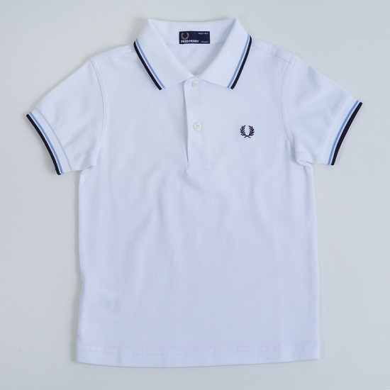 Camiseta Polo Fred Perry Infantil - TWIN TIPPED SHIRT