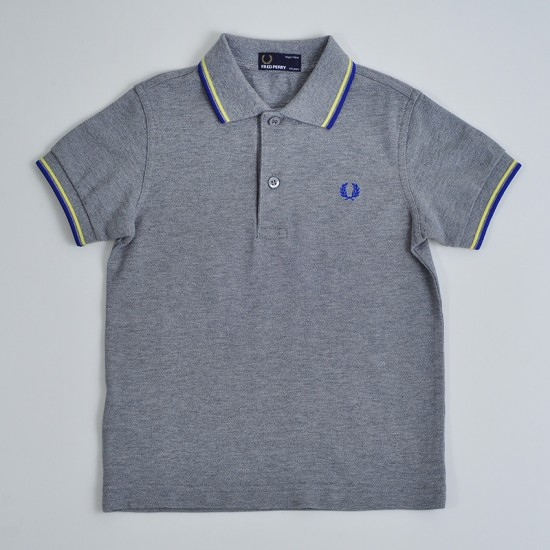 CAMISETA POLO FRED PERRY KIDS TWIN TIPPED STEEL MARL
