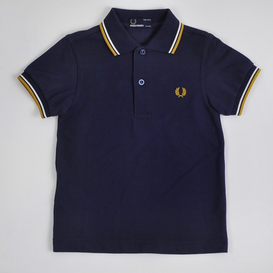 CAMISETA POLO FRED PERRY KIDS TWIN TIPPED DARK