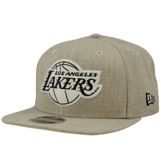 Boné New Era Snapback Los Angeles Lakers NBA Washed 9FIFTY - Caqui ... c07d6e8618f