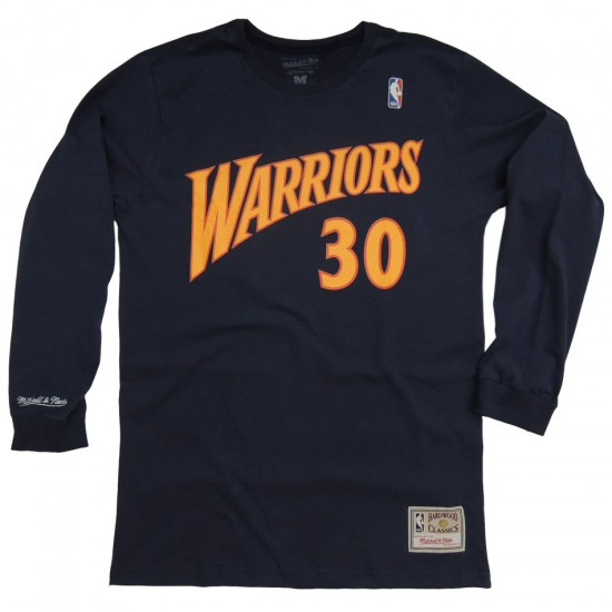 3be37c3db Camiseta Mitchell   Ness Golden State Warriors Curry - Manga Longa