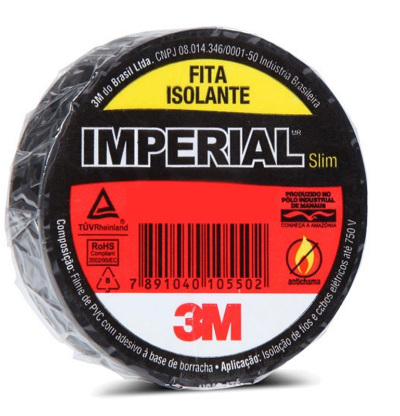 Fita Isolante Imperial Slim 18mm x 20m - 3M