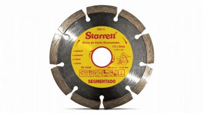 Disco Diamantado Segmentado 110mm x 20mm - Starrett