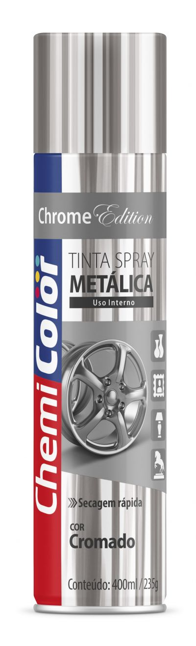 Tinta Spray Cromado Metálica 400ml - Chemicolor