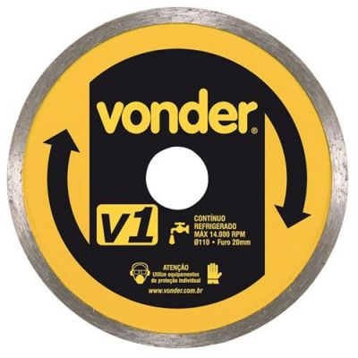 Disco Diamantado 110mm V1 Contínuo - Vonder