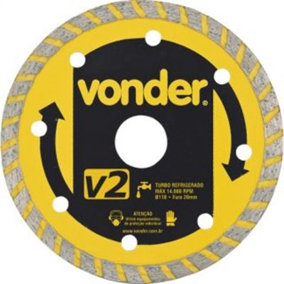 Disco Diamantado 110mm V2 Turbo - Vonder
