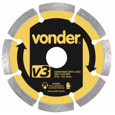 Disco Diamantado 110mm V3 Segmentado - Vonder