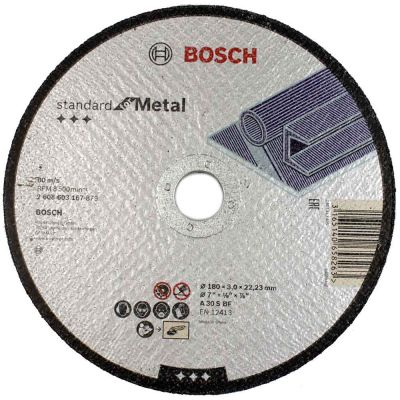 Disco de Corte Standard for Metal 7'' 180x3.0x22 Bosch
