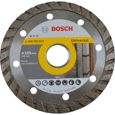 Disco Diamantado Standard Turbo 105mm x 20mm Bosch