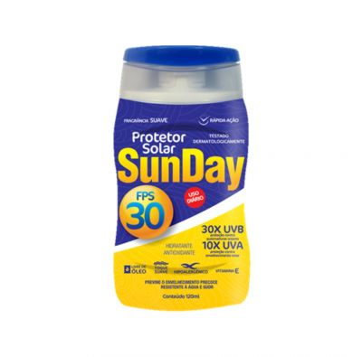Protetor Solar FPS 30 Sunday 120ml - Nutriex