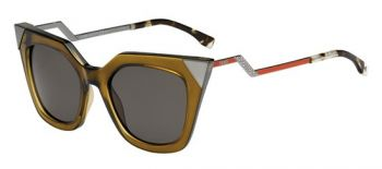 FENDI FF 0060/S MSW/NR OLIVE RUTHENIUM RED/DARK GREY