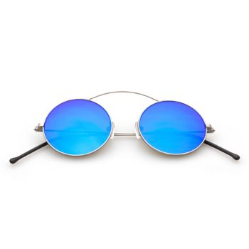 SPEKTRE MET-RO SILVER WITH BLUE MIRRORED LENSES