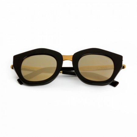 SPEKTRE MON AMOUR BLACK WITH GOLD MIRRORED LENSES