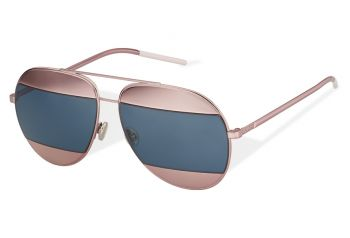 CHRISTIAN DIOR SPLIT 1 02T/8F PINK/BLUE MIRRO LENSES