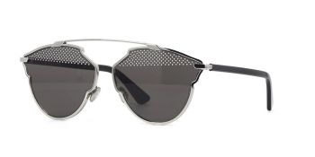 CHRISTIAN DIOR SO REAL S STUDS LIGTH GOLD BLACK/ BLACK DARK GREY SILVER 84J/NR