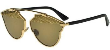CHRISTIAN DIOR SO REAL S STUDS GOLD BLACK/LIGHT BROWN GOLD RHL/5V