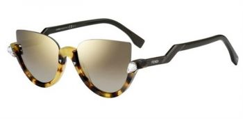 FENDI FF 0138/S BLINK N75/VD HAVANA BLACK/GOLD GREY/GOLD MIRROR