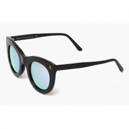 ILLESTEVA BOCA BLACK WITH SILVER MIRRORED LENSES