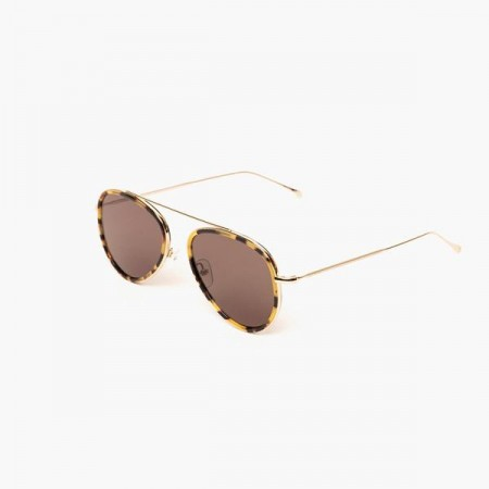 ILLESTEVA DORCHESTER ACE TORTOISE GOLD WITH GREY FLAT LENSES