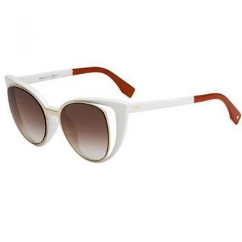 FENDI FF 0136/S NZ2/FM GOLD IVORY RED/BROWN VIOLET SHADED