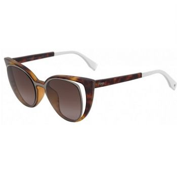 FENDI FF 0136/S NY2/J6 RUTHENIUM HAVANA WHITE/BROWN SHADED