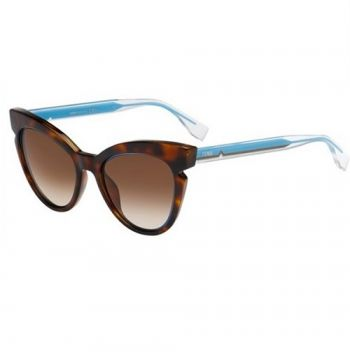FENDI FF 0132/S N9D/JD HAVANA CRYSTAL AZURE/BROWN SHADED